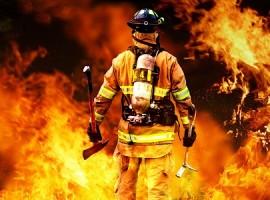 آتش گرفتن یک باب مغازه در خیابان برشنورد صومعه سرا+عکس
