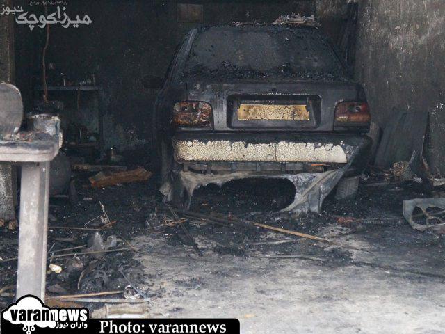 آتش سوزی در تولمات ۹ باب مغازه را از بین برد