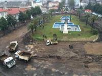 کشف آثار سفالی در میدان مرکزی شهر رشت