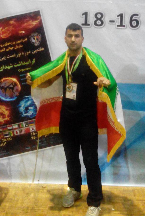 کسب مقام سوم مسابقات کیک بوکس بین الملی کاپ آزاد ۲۰۱۵ توسط محسن لواجو