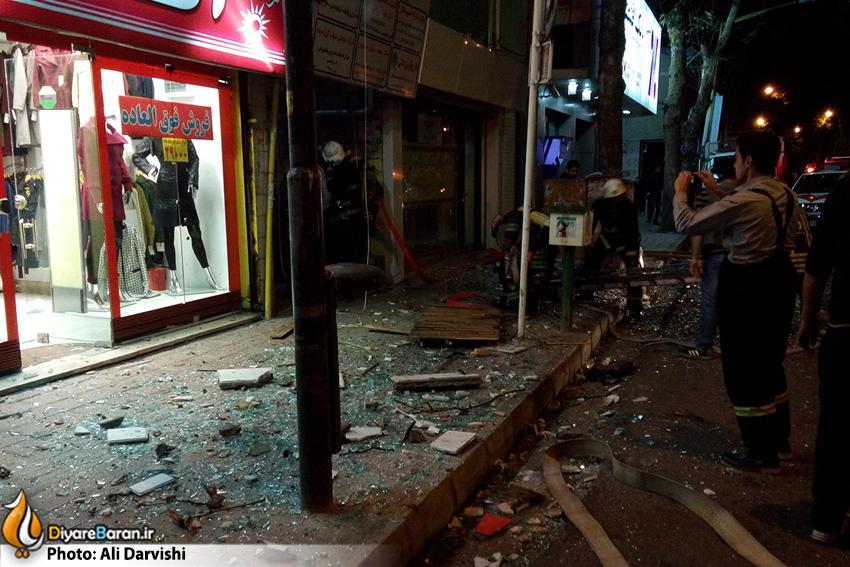 انفجار یک آپارتمان در خیابان مطهری رشت+عکس