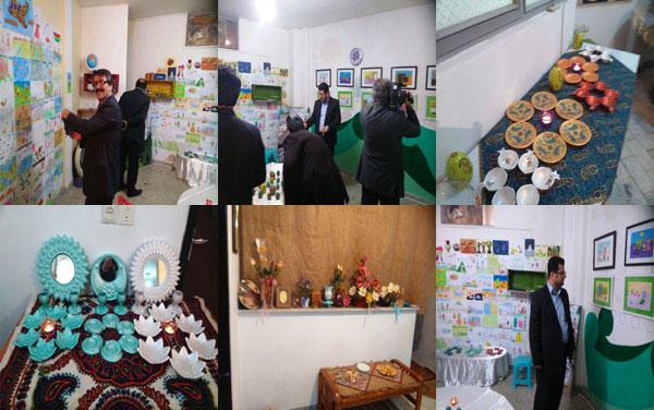 نمایشگاه هفت سین و نقاشی کودکان در صومعه سرا دایر شد