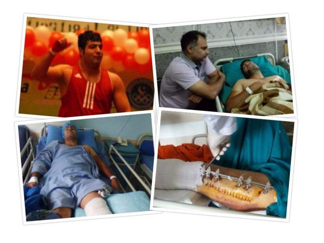 علی سلمانی بوکسور ملی پوش گیلان در بیمارستان چشم انتظار کمک/عاقبت بیتوجهی به ورزشکار ملی پوشی که دستفروشی میکرد