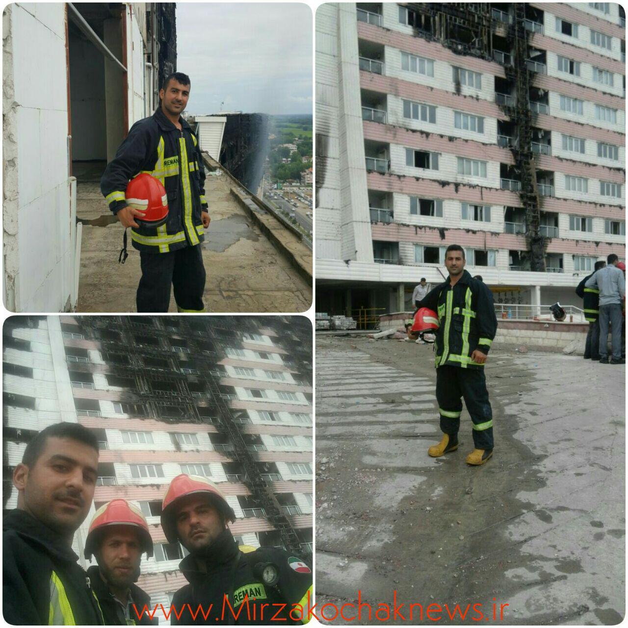 تیم اعزامی آتش نشانان از صومعه سرا