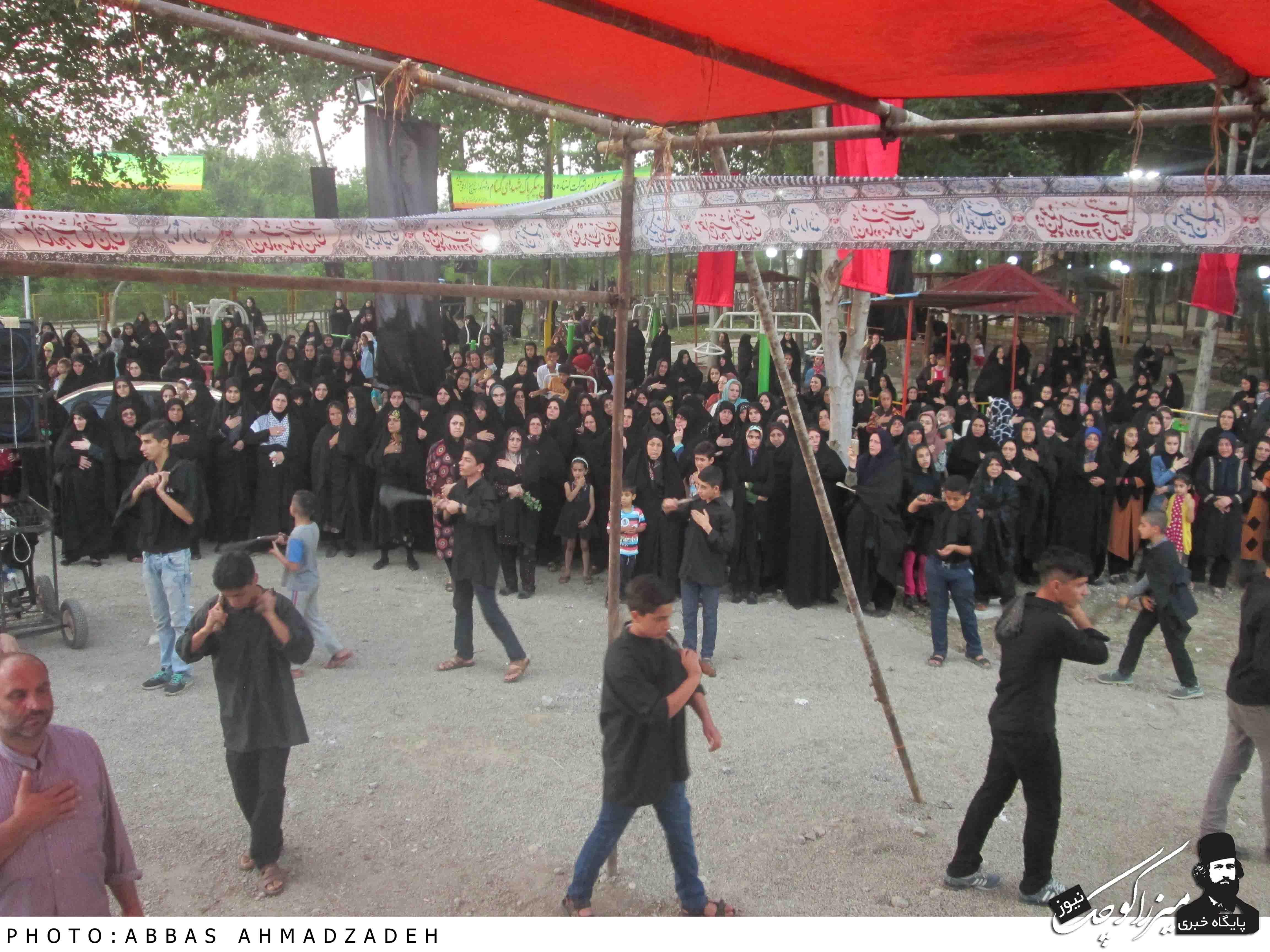 مراسم زنجیز زنی بمناسبت هفتم شهدای گمنام شهر گوراب زرمیخ
