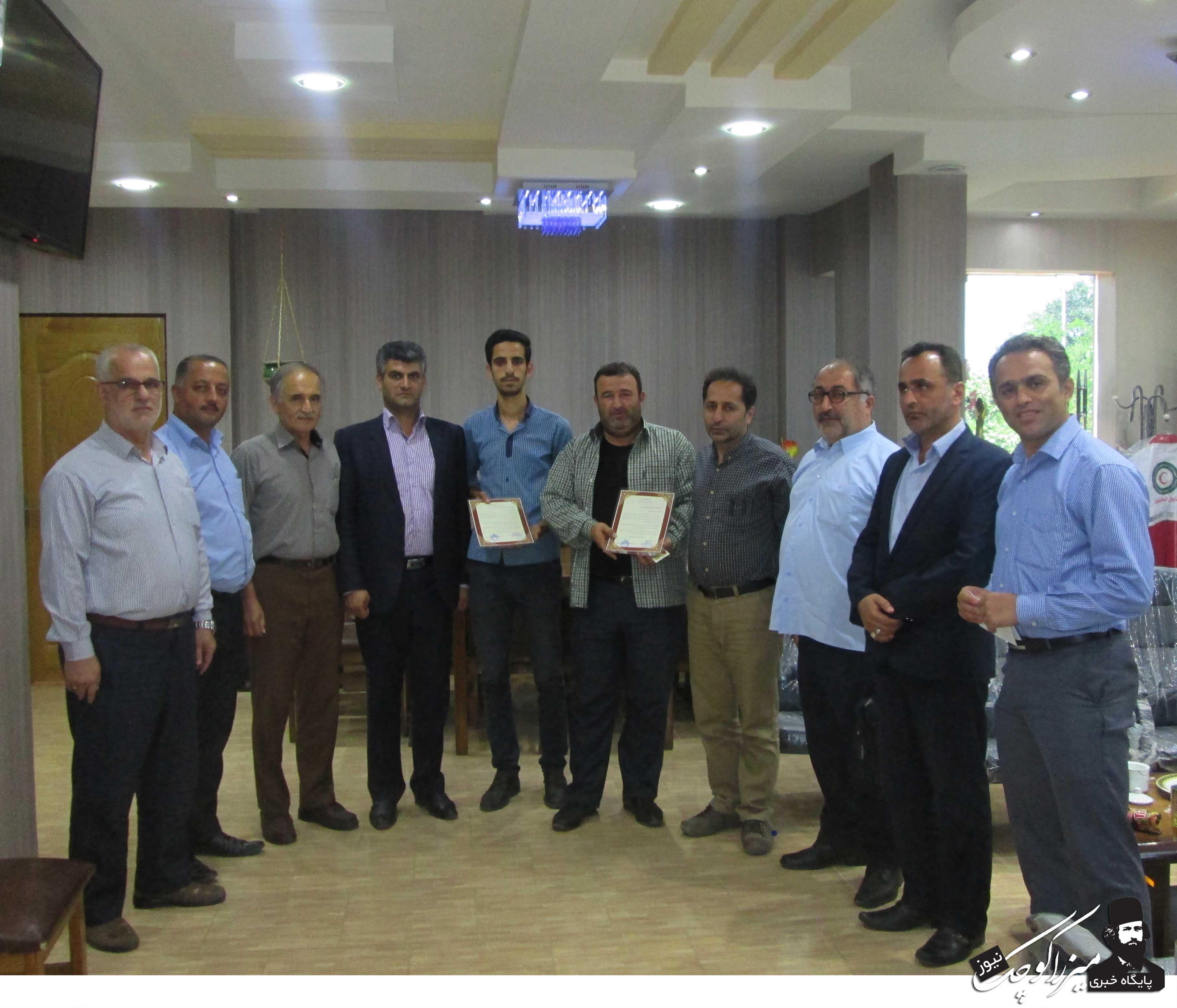 مراسم تجلیل از خبرنگاران شهر گوراب زرمیخ
