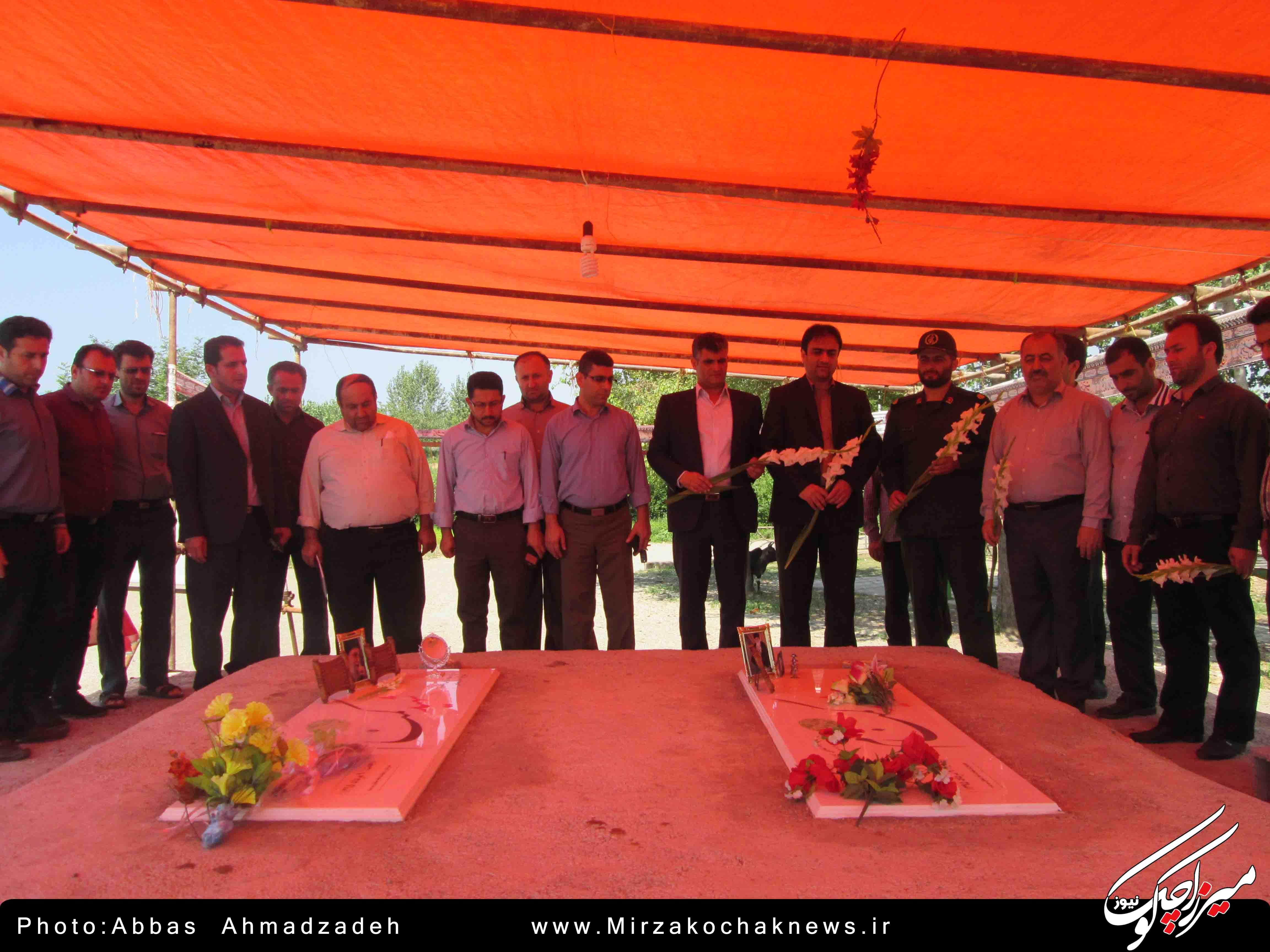 مراسم گلباران مزار شهدای شهر گوراب زرمیخ برگزار شد
