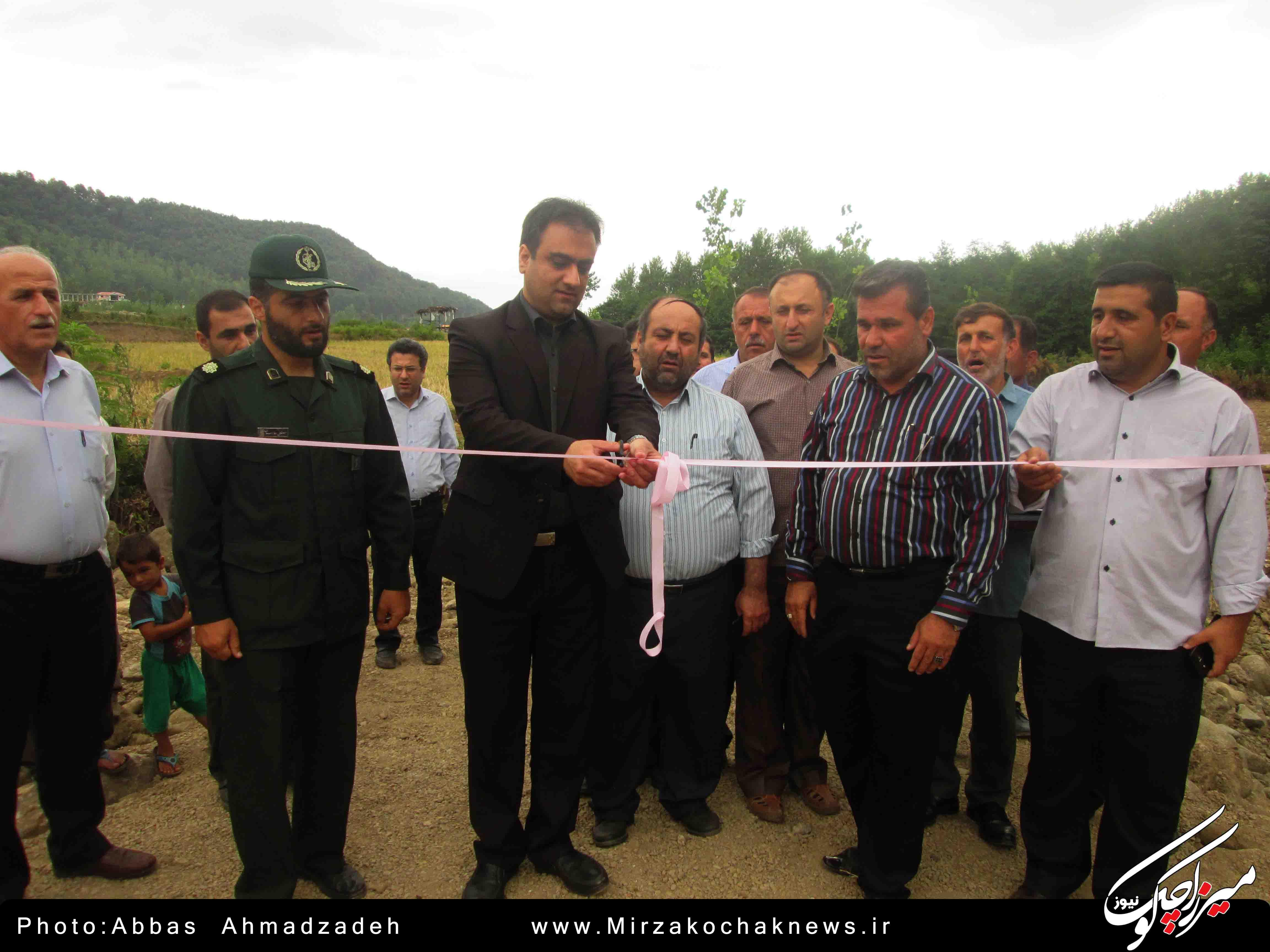 افتتاح دو پروژه عمرانی بخشداری میرزاکوچک