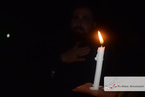 مراسم عزاداری شام غریبان امام حسین(ع) بر سر مزار شهدای گمنام