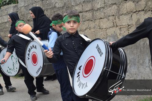 راه اندازی دسته عزاداری دانش آموزان مدرسه نخبگان گوراب زرمیخ