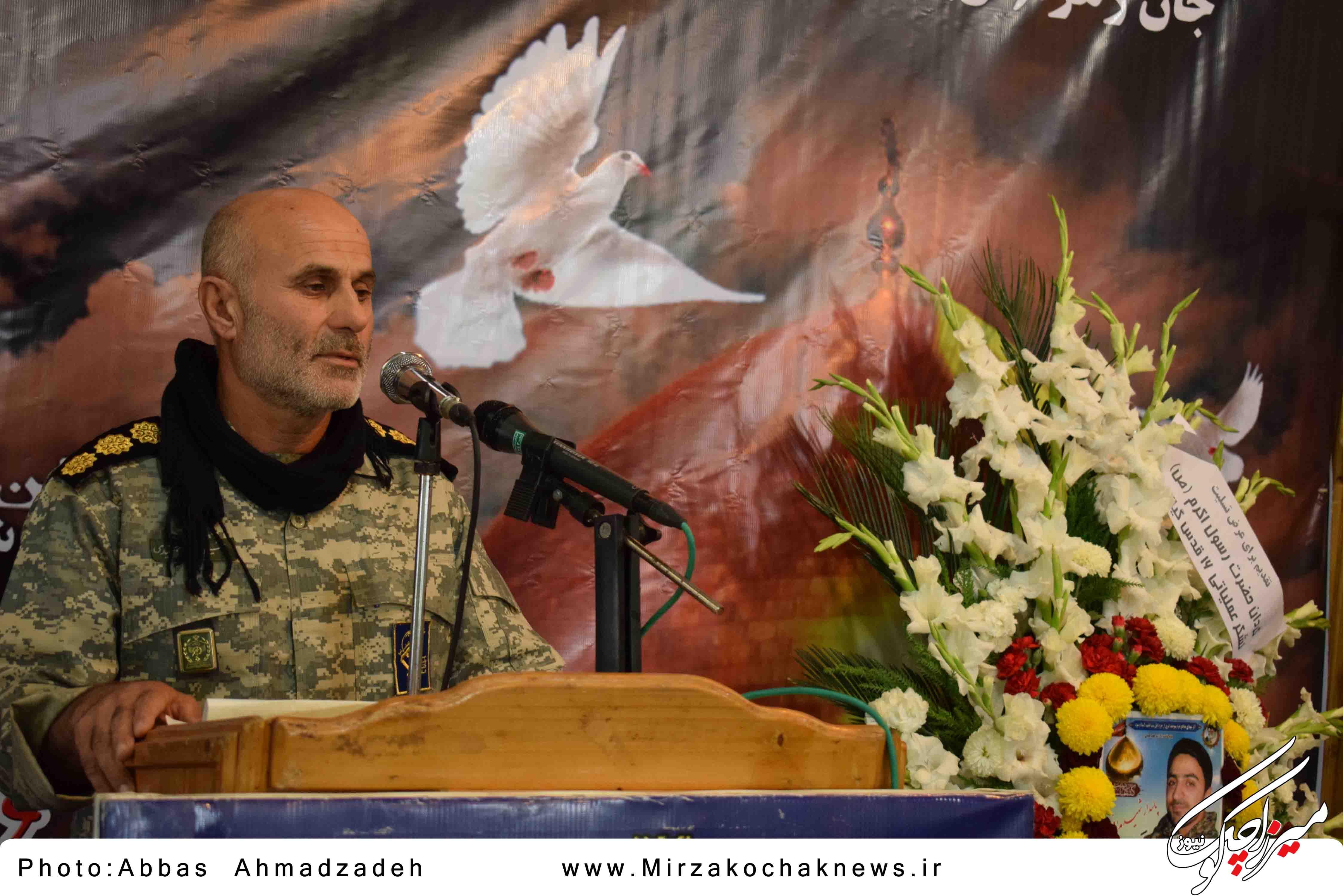 مراسم سوم شهید مدافع حرم محمد اتابه در قاب تصویر