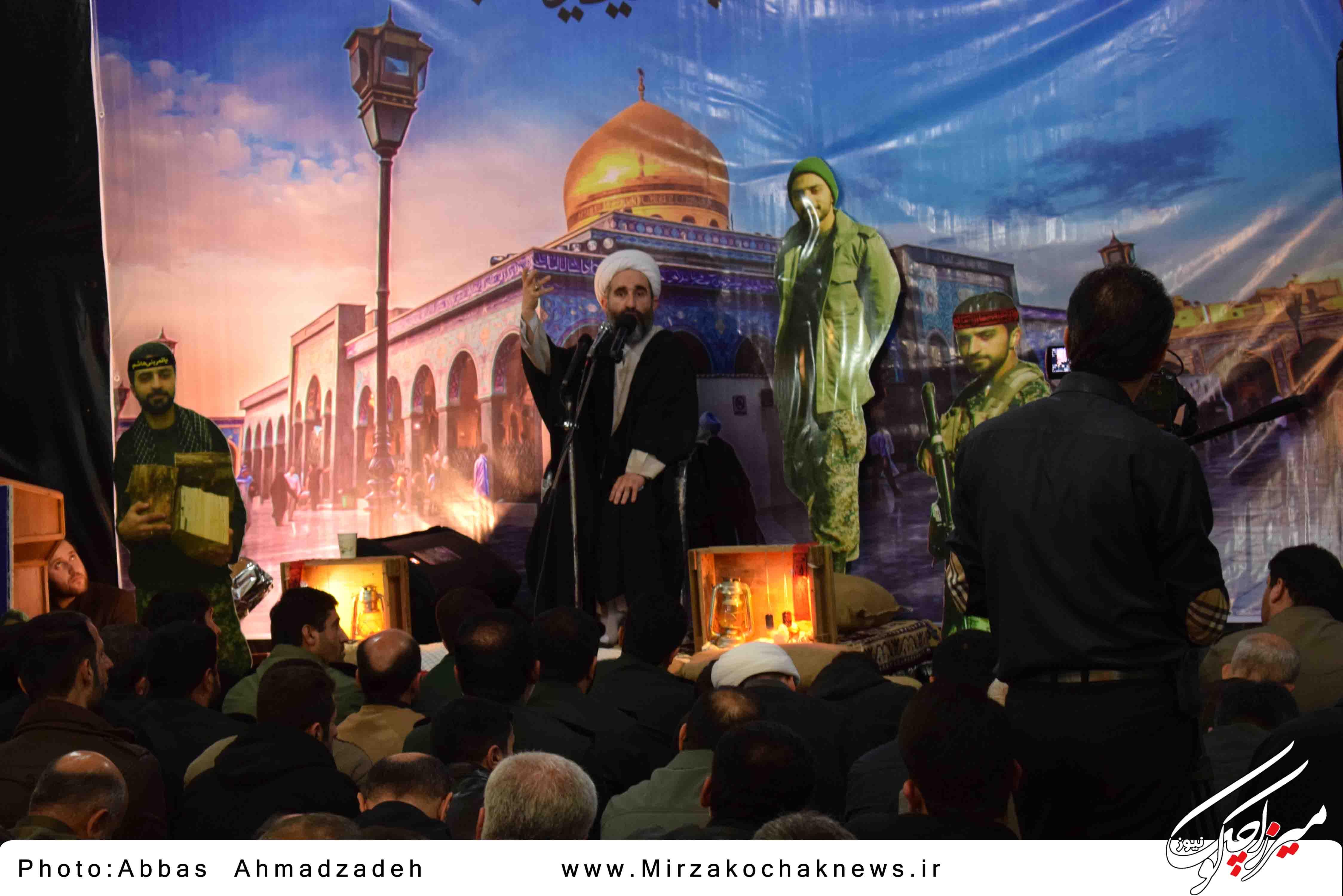 مراسم هفتم شهید مدافع حرم محمد اتابه در قاب تصویر