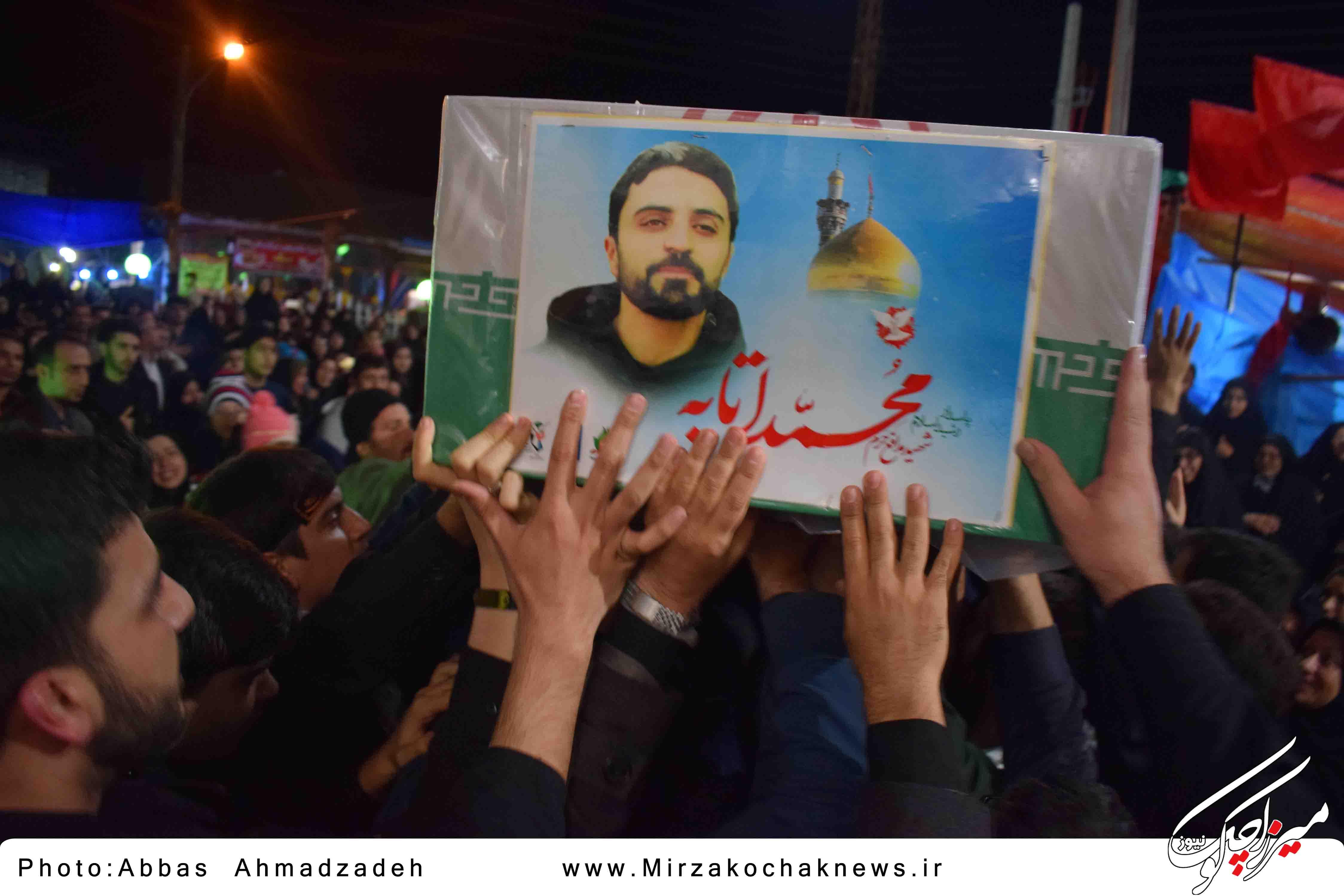 مراسم وداع با اولین شهید مدافع حرم صومعه سرا(شهر گوراب زرمیخ)برگزار شد