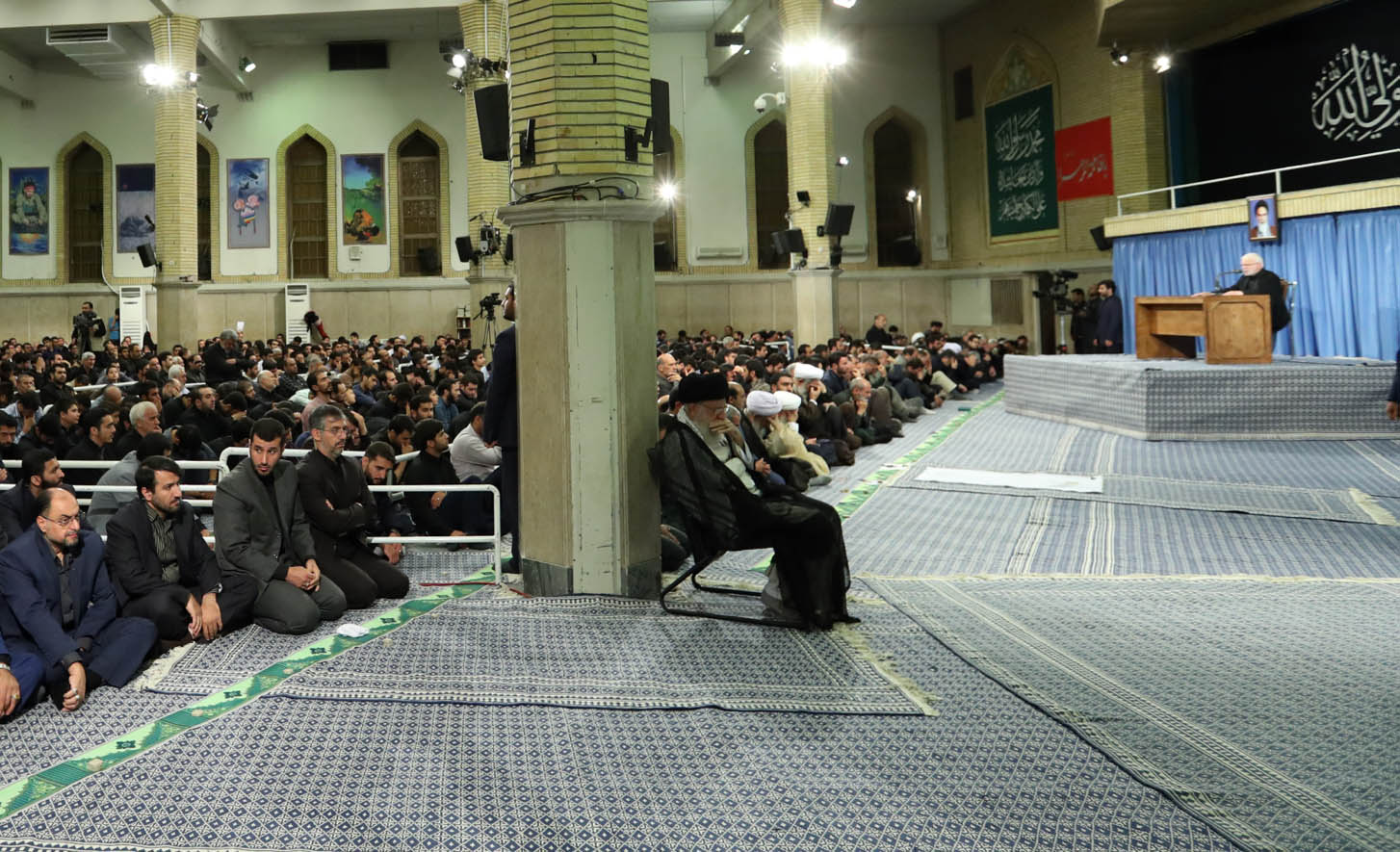 مراسم سوگواری امام علی(ع) در حضور رهبر معظم انقلاب برگزار شد