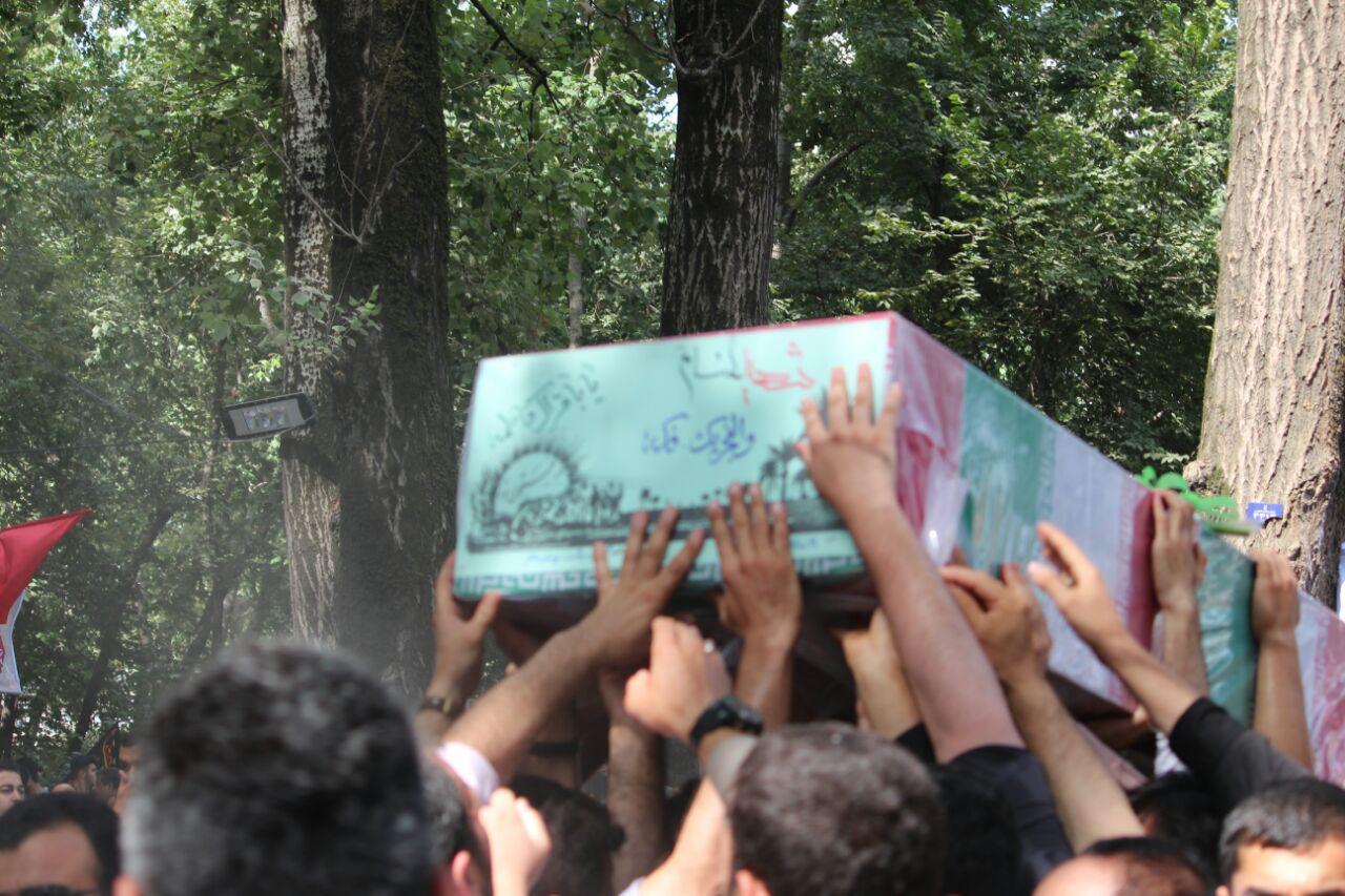 پیکر مطهر دو شهید گمنام در رشت تشییع شد+تصاویر