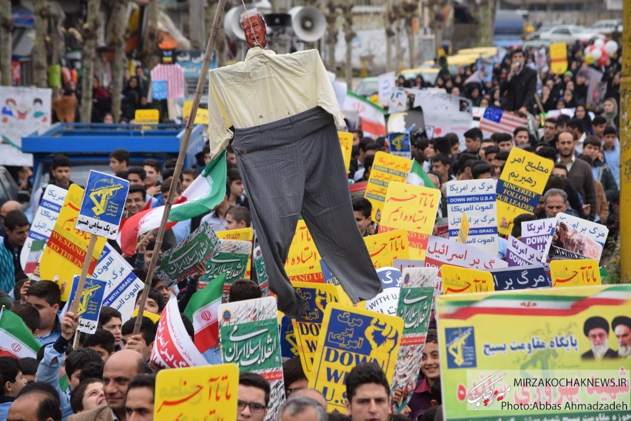 راهپیمایی ۱۳آبان در گوراب زرمیخ برگزار شد