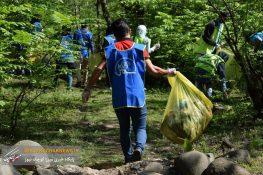 برگزاری برنامه پاکسازی مشارکتی تشکل های محیط زیستی استان گیلان در شهرستان سیاهکل