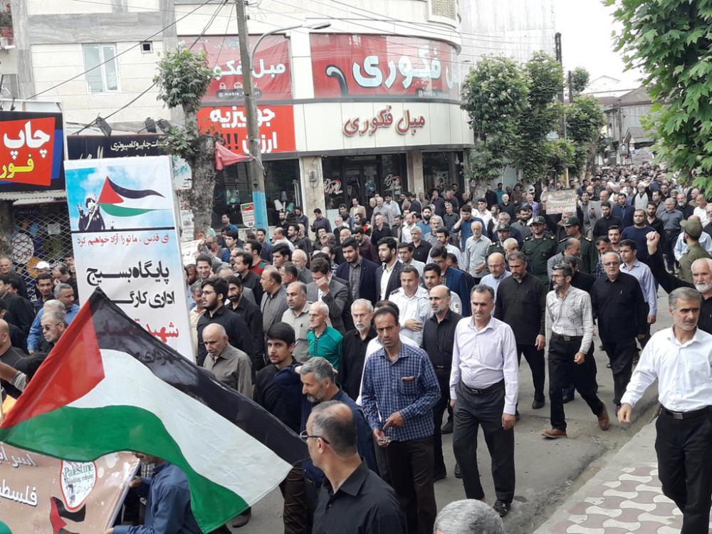 راهپیمایی بزرگ یوم الله روز جهانی قدس شهرستان صومعه سرا برگزار شد
