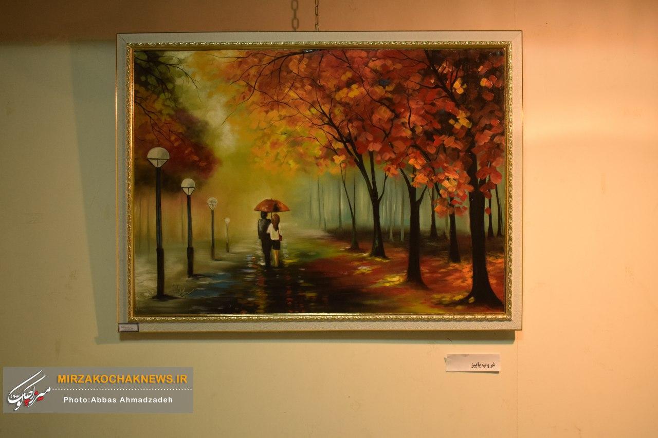 نمایشگاه نقاشی «شکوه طبیعت» در صومعهسرا افتتاح شد