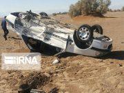 پنج مصدوم بر اثر واژگونی خودرو در رستمآباد رودبار