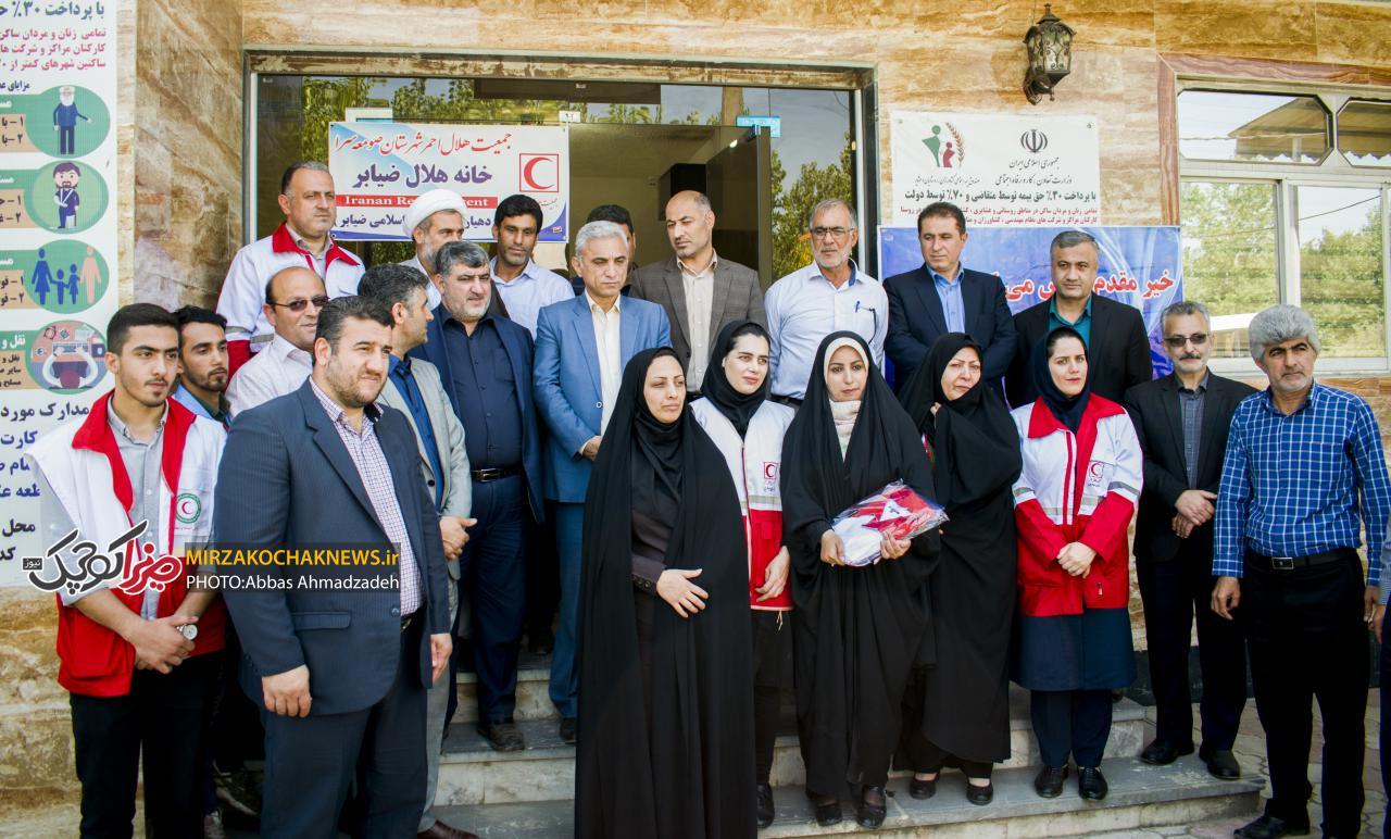 بیست و چهارمین خانه هلال صومعه سرا در ضیابر افتتاح شد
