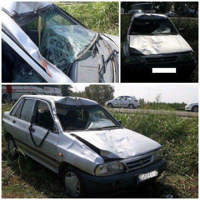 راننده ۱۷ ساله حادثه تصادف با کاروان پیاده در انزلی فاقد گواهینامه بود