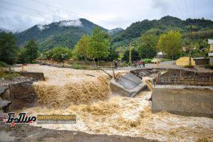 تصاویری از خروش سیل در شهرستان صومعه سرا